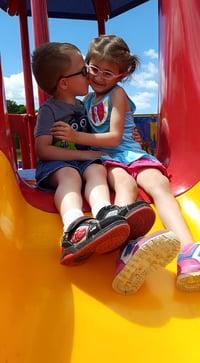 Benjamin kissing Jayla